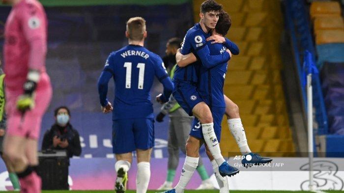 HASIL Babak I Chelsea vs Everton – Gol Beruntung Kai Havertz Bawa The Blues Unggul 1-0