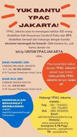 Yuk Bantu YPAC Jakarta Lewati Pandemi Covid-19 Seruan Edukasi dari IPE-14